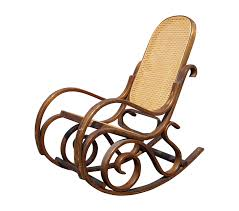 Bentwood Cane Back Rocking Chair In The Style Of Michael Thonet