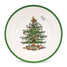 Christmas Tree Spode Dinnerware Plate Set Of 4