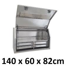 Aluminium Toolbox Side With Built In 4 Drawers Truck Ute Tool Box ...