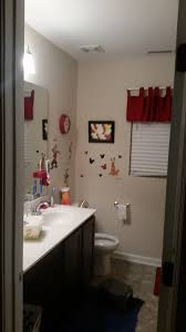 Mickey And Minnie Bathroom Accessories by Down Side Up Mommy Finding Nemo Bathroom Makeover