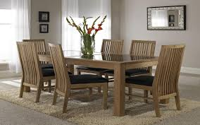 Glass Dining Table With Black Painted Wooden Legs Gray Rug Gallery Designs Top Wood And Room