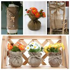 Free Shipping 5cm10m Natural Jute Hessian Burlap Ribbon Trims