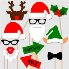 Christmas Photobooth Props For Holiday Party Christmas Parties