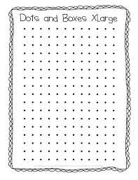Cribbage Board Templates Image Collections Design Ideas The Puzzle Den Dots And Boxes Freebie