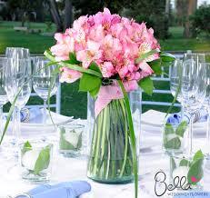Light Pink Peruvian Lilies Wedding Centerpieces