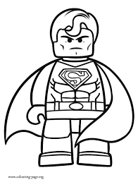 Superman The Lego Movie Coloring Page Beautiful Pages Kids