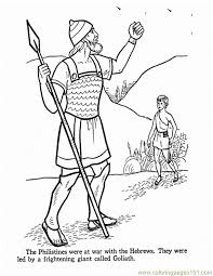 David And Goliath 1 Coloring Page