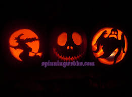 Free Headless Horseman Pumpkin Template by Pumpkin Carving Spinning Webbs