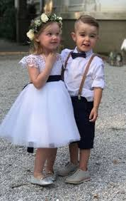Rustic Wedding Looks For Your Little Ring Bearer And Flower Girl Boys Navy Bow Tie