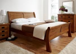 Normandy Oak Sleigh Bed King Size Bed Frame ly