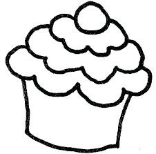 Extraordinary Cupcake Template To Color Free Download Pin Drawn 5 Pencil And In Kids Coloring