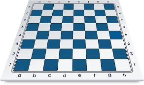 Chess Board Blue Game White Sp