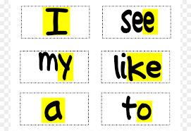 Sight Word Dolch List Kindergarten Clip Art