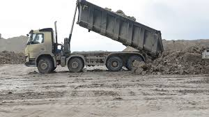 Mining Dump Truck Working Unloading In The Sand Quarry Stock Video ...