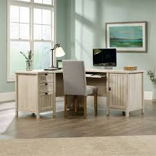 Cymax Desk With Hutch by Sauder Costa L Shaped Computer Desk With Hutch In Chalked Chestnut