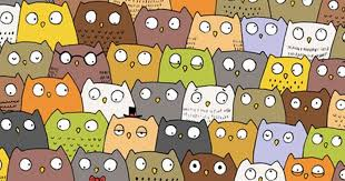 Halloween Brain Teasers by Dudoff Illustrator Find The Cat Owl Picture