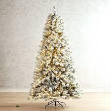 Pre Lit Flocked Christmas Trees Loading Donner And Blitzen 75 Spruce Tree