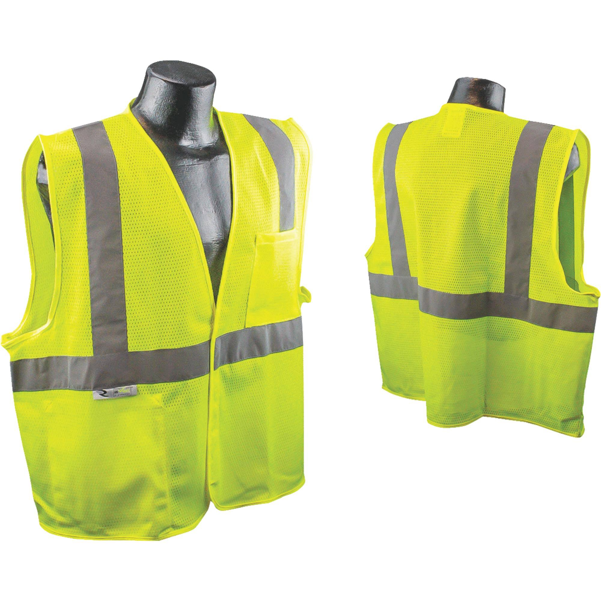Radians SV2GMXL Radwear High Visibility Class 2 Safety Vest - Yellow, X-Large