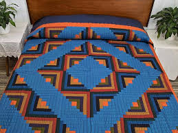Log Cabin Quilt superb smartly made Amish Quilts from Lancaster