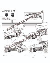 Sprint Car Coloring Book Inside Page