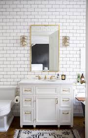 bathroom design with white subway tile homedesignboard