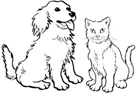 Kitties Coloring Pages Kitten Page Puppies And S Collection Puppy For Adults