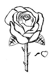 Rose Coloring Pages Free Printable Roses For Kids Gallery Ideas
