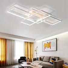moderne weiße led einbau deckenleuchte quadratische kombination form für wohnzimmer esszimmer schlafzimmer