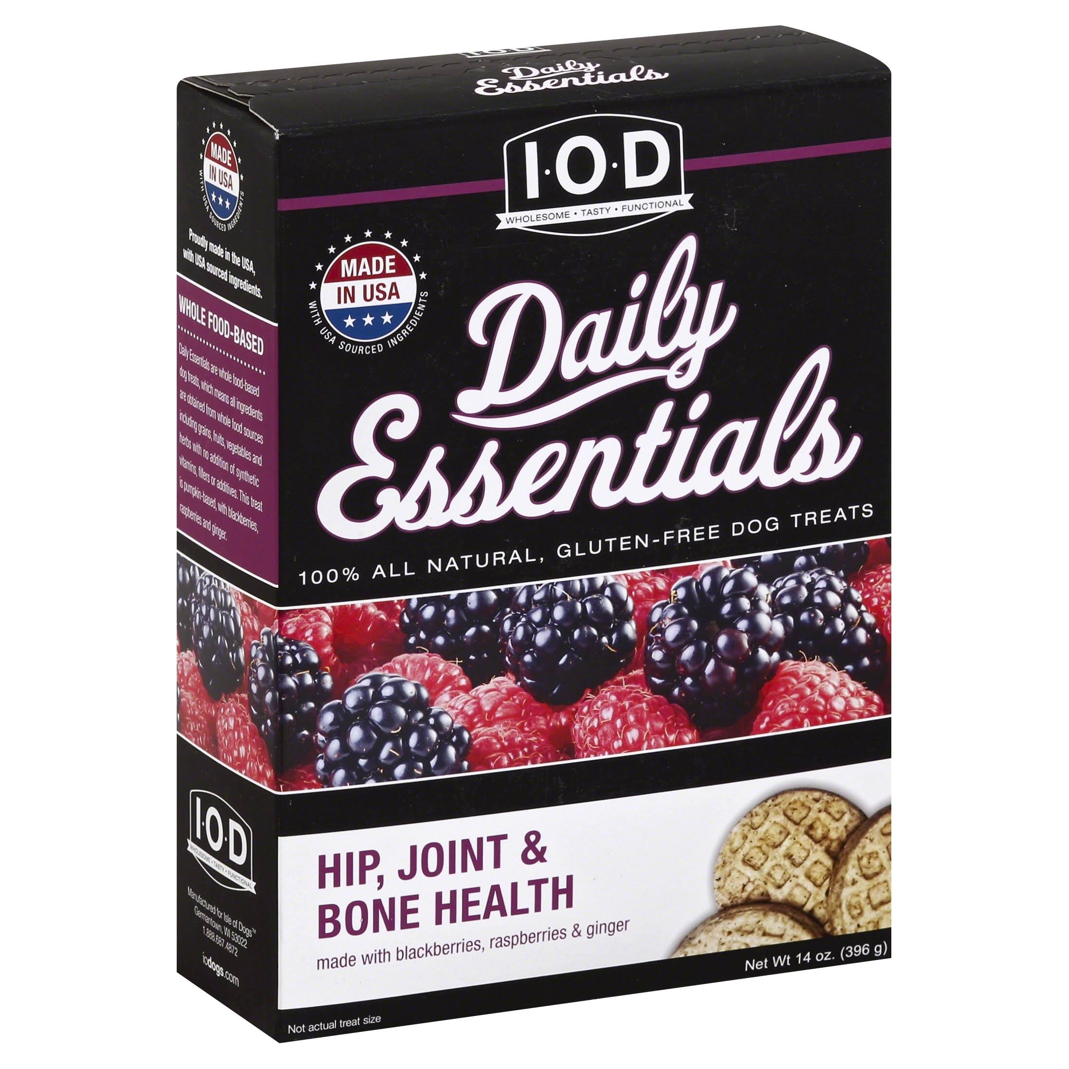 Isle of Dogs Daily Essentials Dog Treats, Hip, Joint & Bone Health - 14 oz