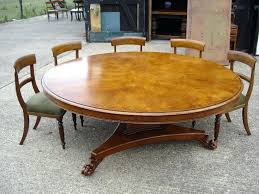 Dining Room Tables Seat 12 Large Round Table Diameter Regency Revival Burr Oak To People Seats
