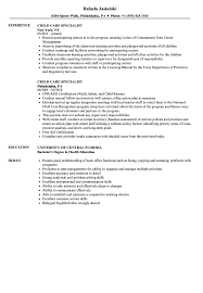 Child Care Specialist Resume Samples | Velvet Jobs Child Care Resume Samples Examples Sample Healthcare Teacher Indukresume Childcare Yyjiazhengcom Objectives Daycare Worker Top Statement Cover Letter Free Download For Music Valid 25 New Template 2017 Junior Java Developer Child Care Resume 650841 Examples Of Childcare Rumes Diabkaptbandco Experience Communication Seven Fantastic Of This Information