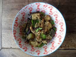 cuisiner l 駱eautre la cuisine des restes salade de quinoa aux légumes rôtis cilantro