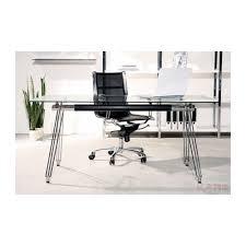 bureau metal verre bureau en verre officia 160x80 cm kare design