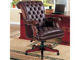 Coaster Office Chairs 800142 Traditional Leather Executive Chair ... Classic Leather Executive Office Chair Rapid Fniture Shop Highback Traditional Tufted Osp Black Bonded With Wood Trim L Amazoncom Halter Hal007 Eames Style Cream Faux Mulberry Moon Made For Comfort Ez Brown Taupe 500lb High Back Go2092m1tpgg Bizchaircom Staples Giuseppe Ea119 Chair Design Seats Buy Designer Flow Hon Atwork Canada