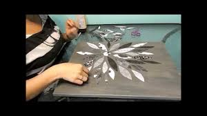 Flower Canvas Scrapbook Paper DIY