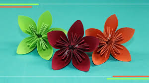 Origami Kusudam Flower How To Make Paper Flowers Easy For Beginners