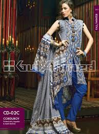gul ahmed best winter dresses collection for women 2014 2015