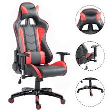 Gaming Desk Chair Walmart by Costway High Back Executive Racing Reclining Gaming Chair Swivel