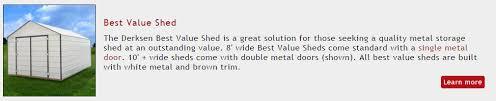 Derksen Best Value Sheds by Portable Metal Buildings Houston Tx
