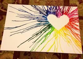 Brianas Blog Name Heart Crayon Melting