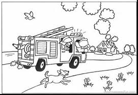 Fire Truck Coloring Pictures Free Coloring Library