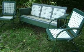 green metal patio chairs 1960 s glider that my gave to me i this thing and
