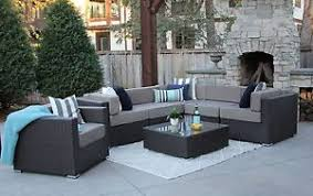 Ebay Patio Furniture Sectional by 7pc Patio Set Modern Outdoor Sectional Sofa Furniture Rattan