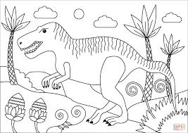 Coloriage Tyrannosaure Rex Imprimer Agréable Coloriage Magique