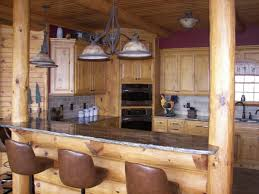 terrific log cabin kitchen decorating ideas using cast iron