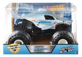 100 Monster Jam Toy Truck Videos Amazoncom Hot Wheels Megalodon Vehicle 124 Scale