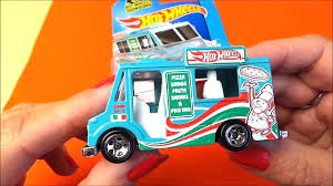100 Snack Truck Box Opening Of Latest Mattel Hot Wheels SWEET STREETS Pizza And