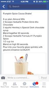 Pumpkin Spice Herbalife Shake Calories by 46 Best Herbalife Images On Pinterest Facebook Desserts And