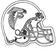 NFL Football Helmet For Games Coloring Pages