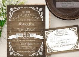 Country Garden Wedding Invitation